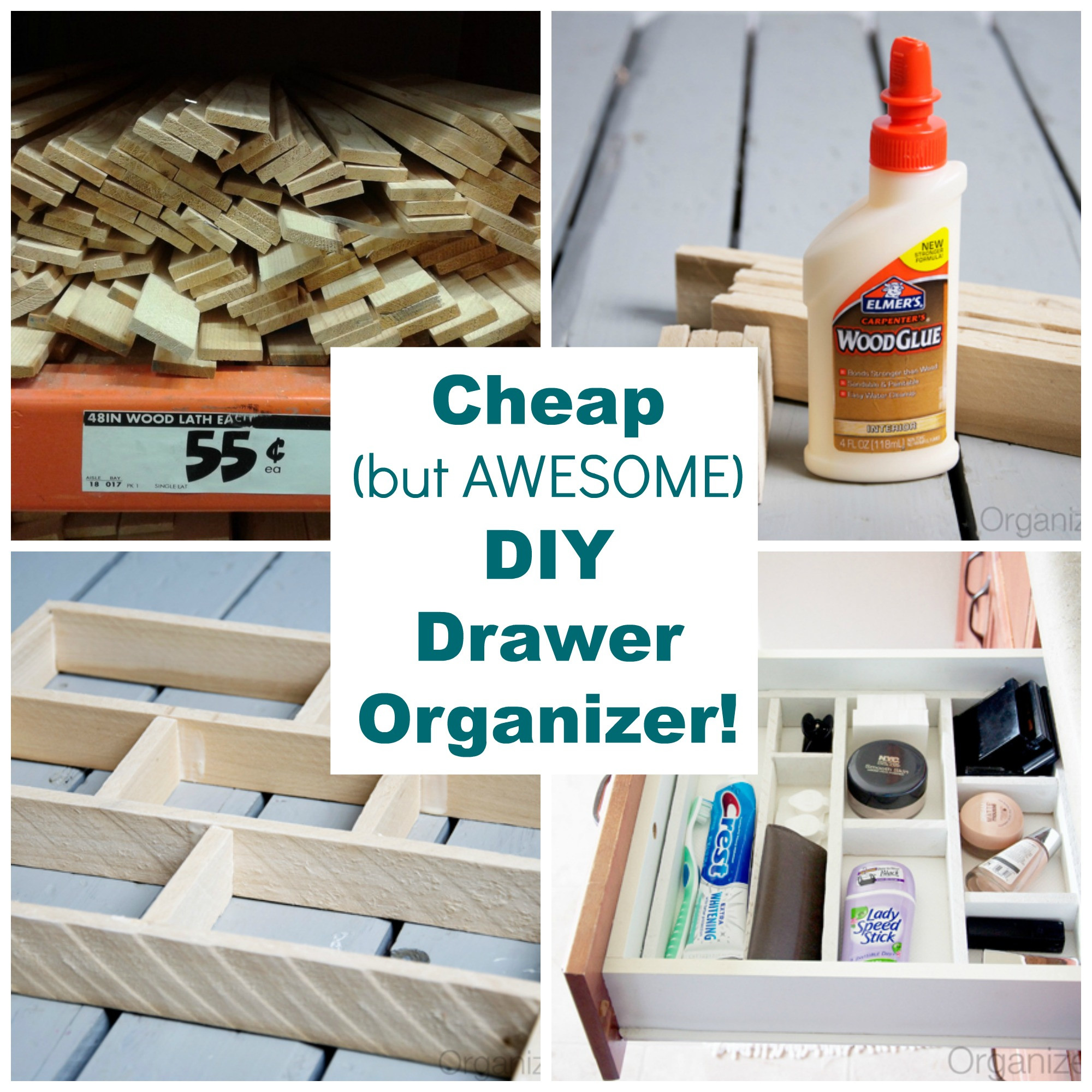 DIY Drawer Organizer  Drawer Organizer DIY Organization Project The