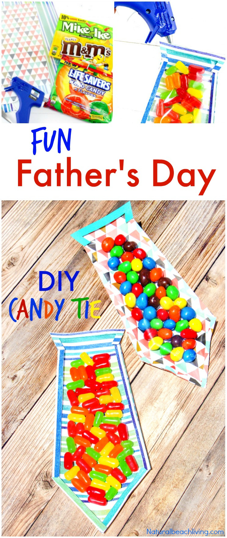DIY Father'S Day Gifts From Kids  The Best DIY Father s Day Card Father s Day Candy Tie