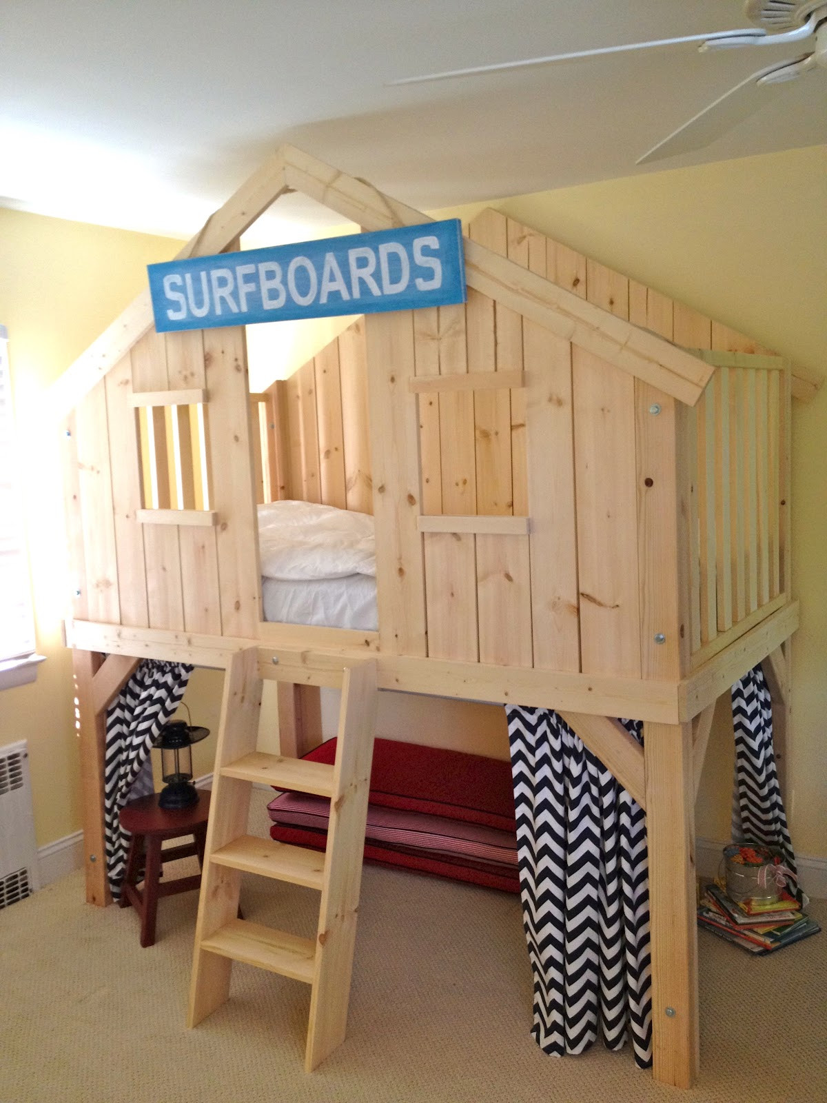 DIY Kids Clubhouse  DIY Clubhouse Bed for Kids Jaime Costiglio