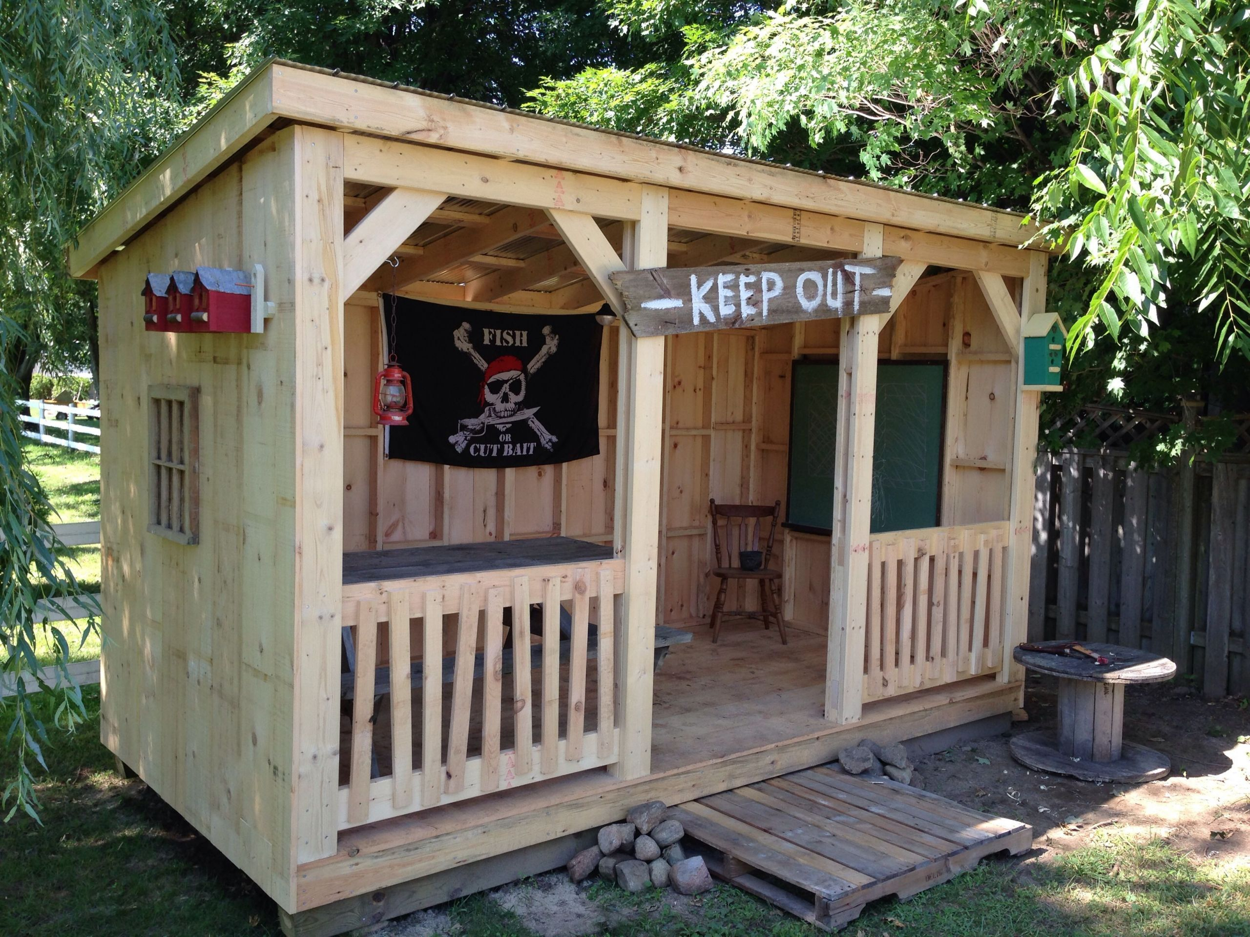 DIY Kids Clubhouse  15 Smart Ways How to Build Backyard Clubhouse Ideas
