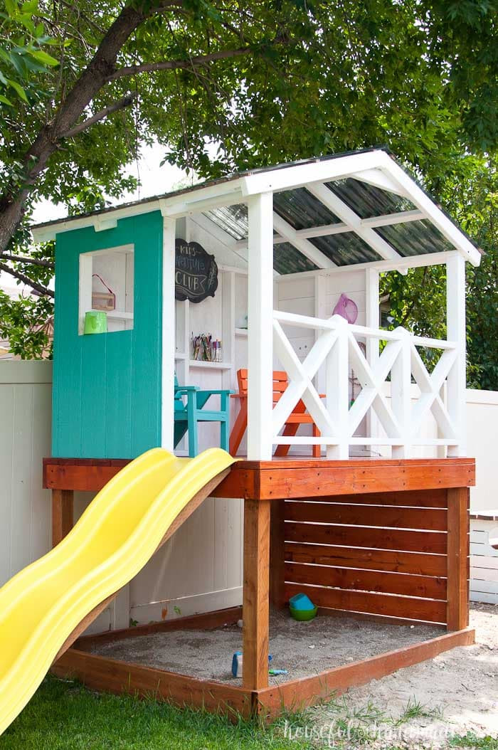 DIY Kids Clubhouse  Our DIY Playhouse The Roof a Houseful of Handmade