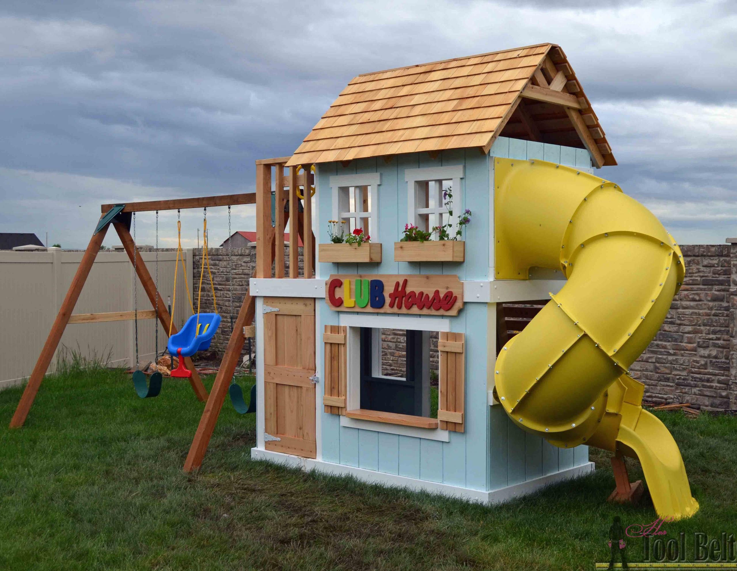 DIY Kids Clubhouse  DIY Clubhouse Play Set Her Tool Belt