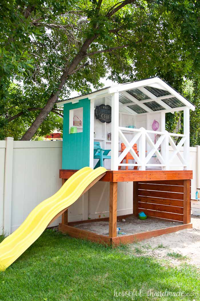 DIY Kids Clubhouse  How to Build an Outdoor Playhouse for Kids Houseful of