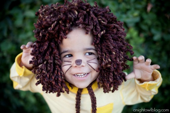 DIY Lion Costume For Toddler  37 Homemade Animal Costumes C R A F T