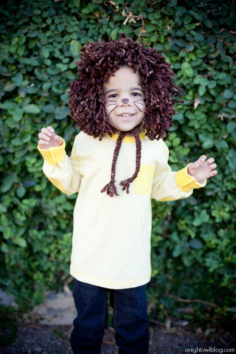 DIY Lion Costume For Toddler  22 DIY Toddler Halloween Costumes