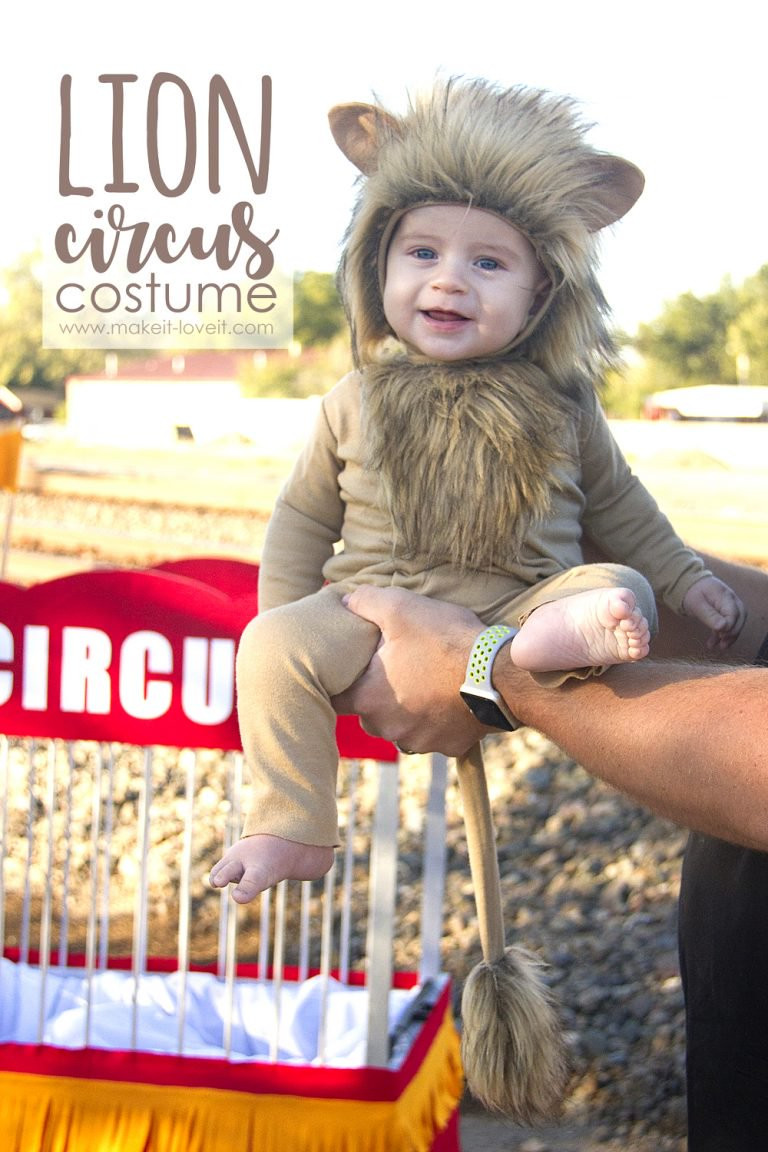 DIY Lion Costume For Toddler  Tutorial Circus lion Halloween costume for baby – Sewing