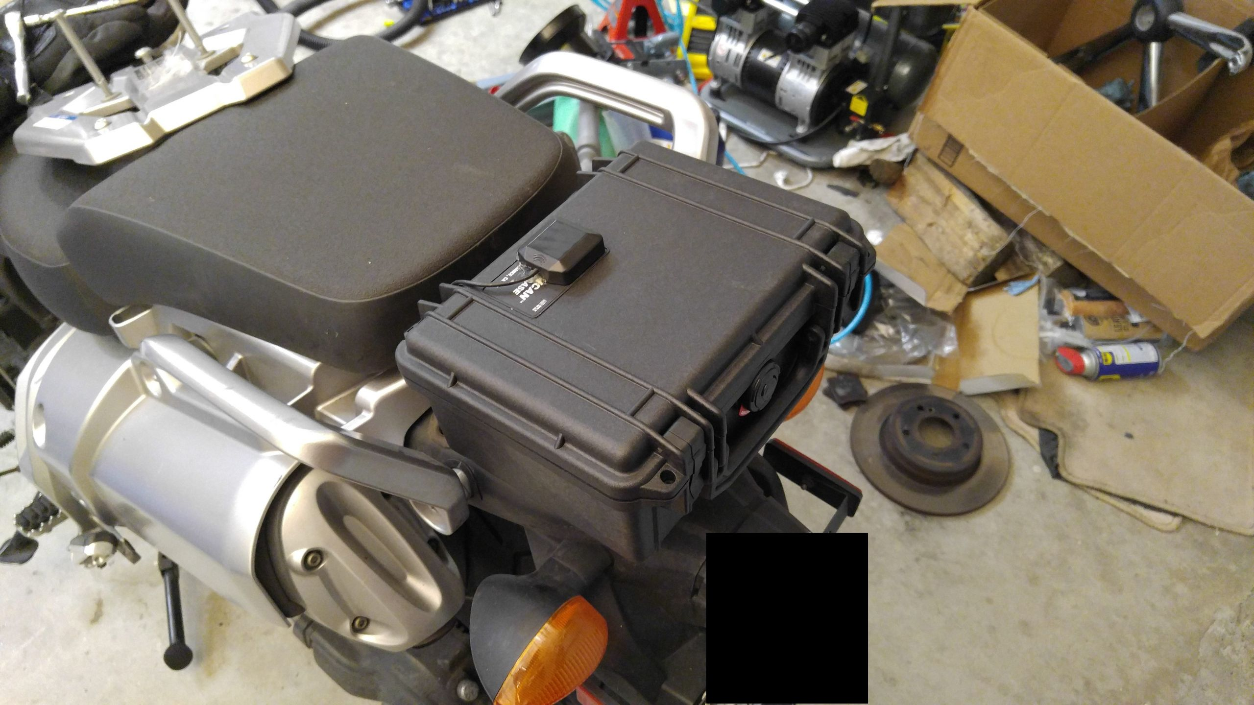 DIY Motorcycle Luggage Rack  Swapped out my luggage rack with a tiny pelican case I