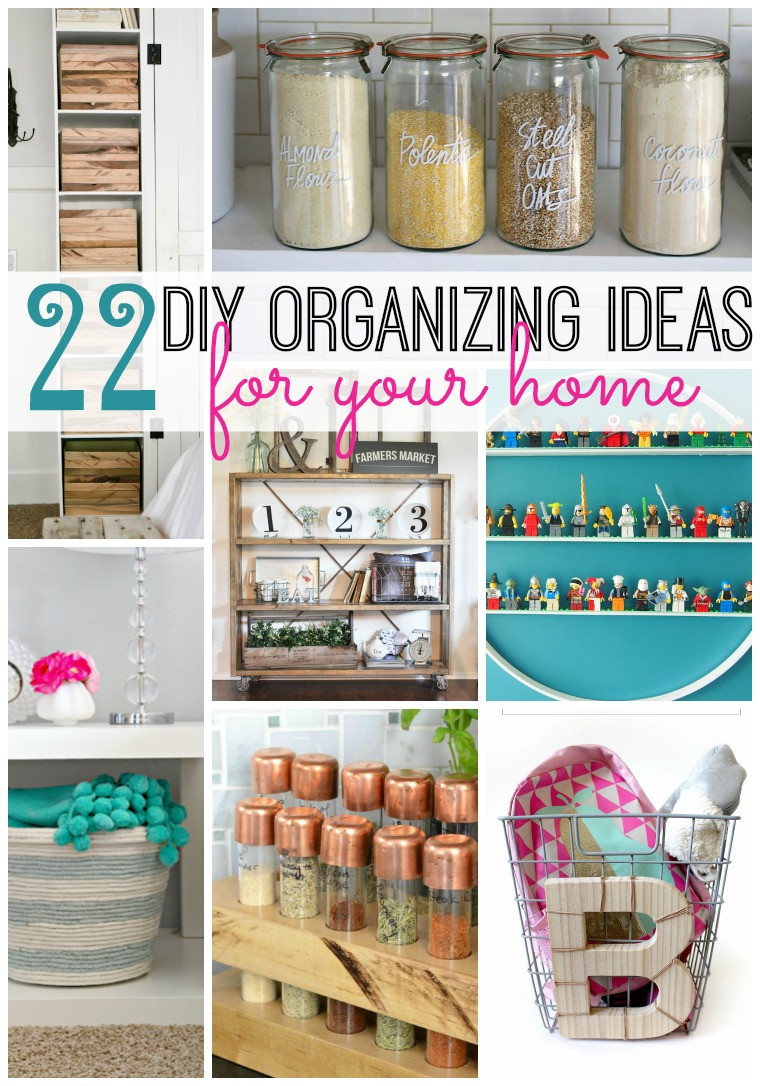 DIY Organization Ideas  22 DIY Organizing Ideas For Your Home Tatertots and Jello