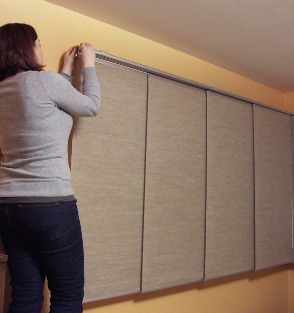 DIY Panel Track Blinds  Great tutorial on how to hang Ikea Kvartal Panel Curtains