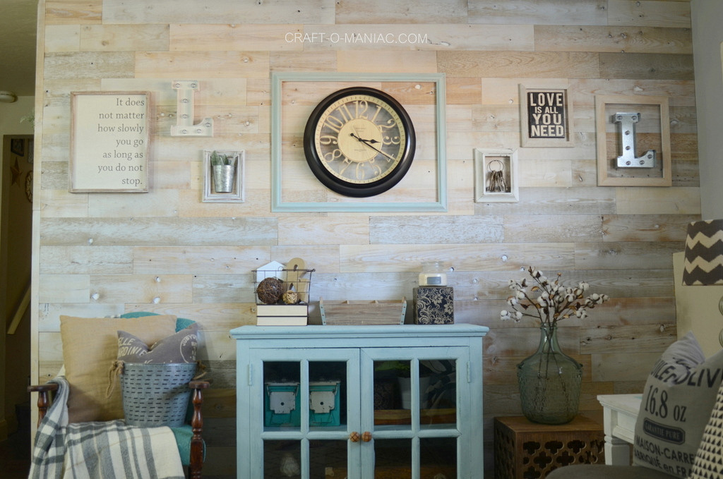 DIY Peel And Stick Wood Wall  DIY Peel and Stick Wood Planked Wall Craft O Maniac