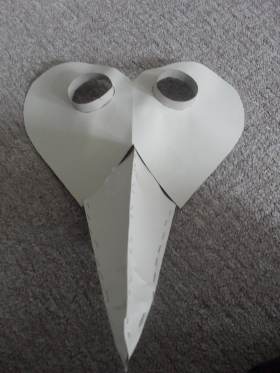 DIY Plague Doctor Mask  How to Make an Easy DIY Plague Doctor s Mask with Lesson