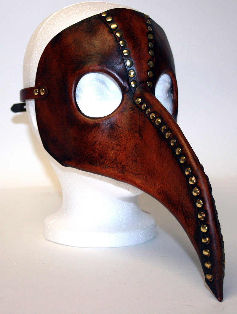 DIY Plague Doctor Mask  Plague Doctor Mask steampunk inspired in acorn brown