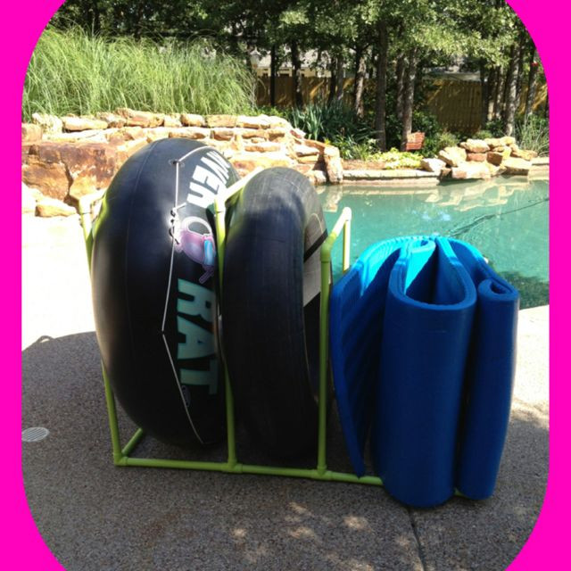 DIY Pool Float Organizer  PVC Pool float and tube holder DIY & Crafts