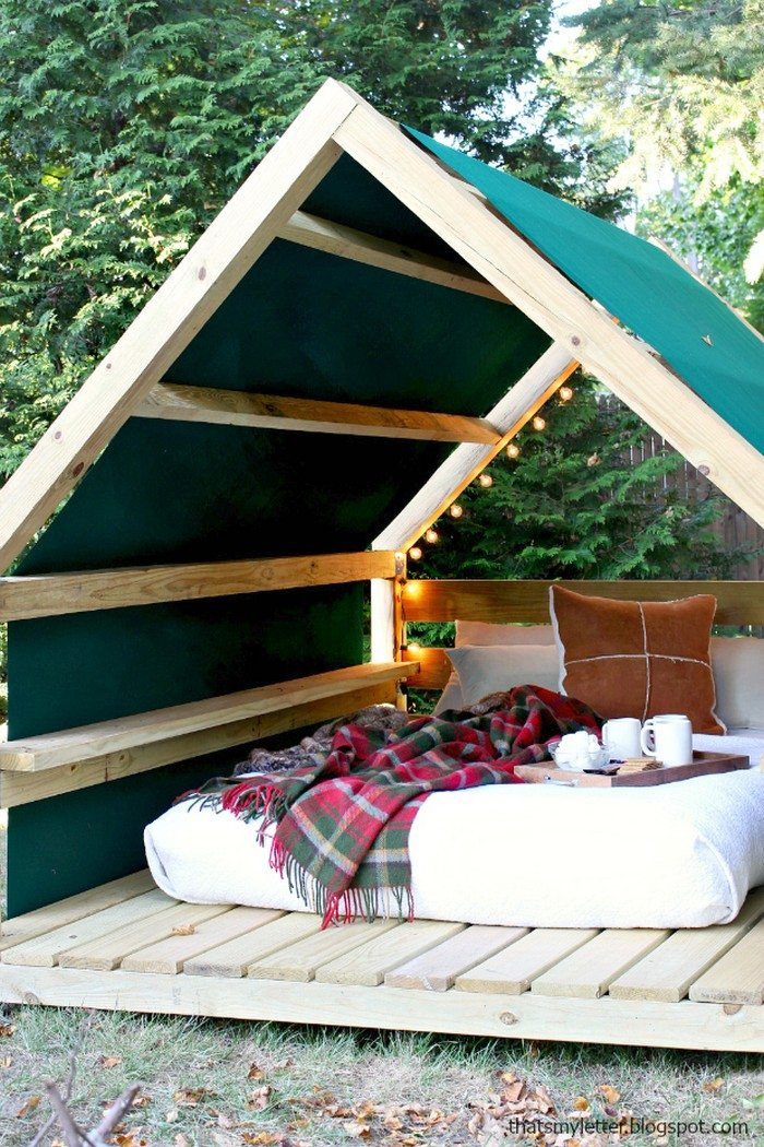 DIY Projects Outdoor  Unwind in your backyard with a cozy DIY outdoor cabana