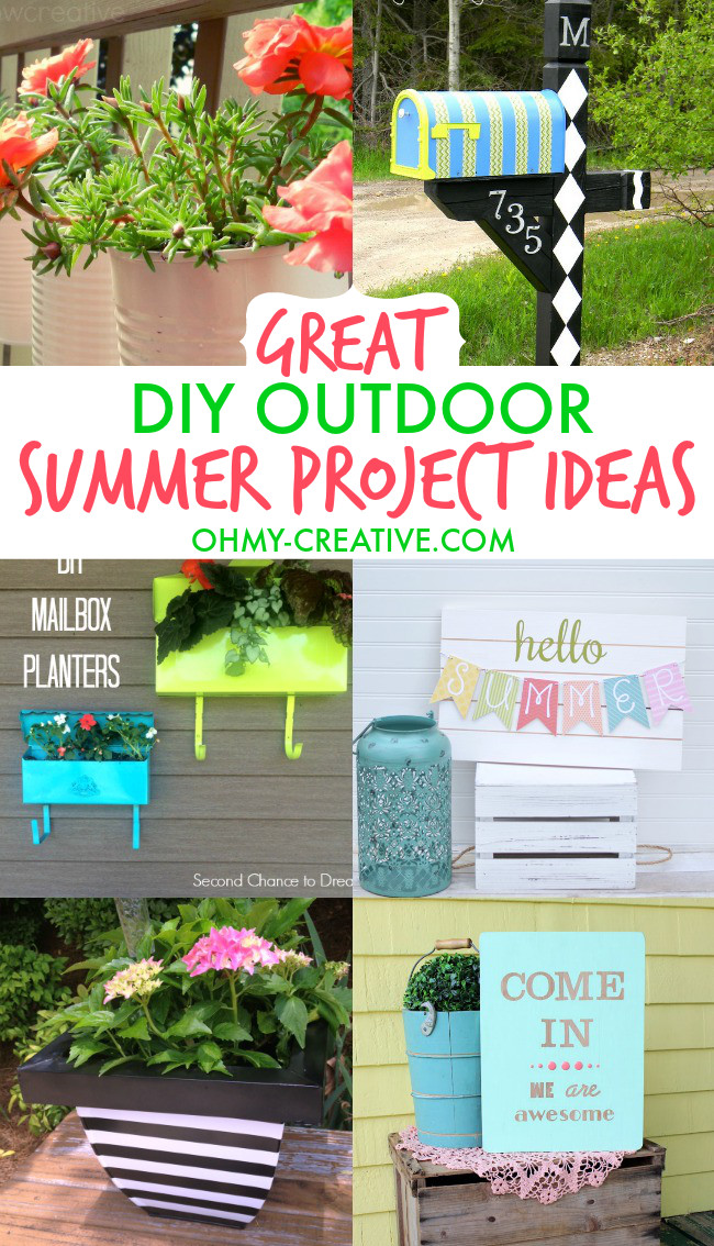 DIY Projects Outdoor  Great DIY Outdoor Summer Project Ideas Oh My Creative