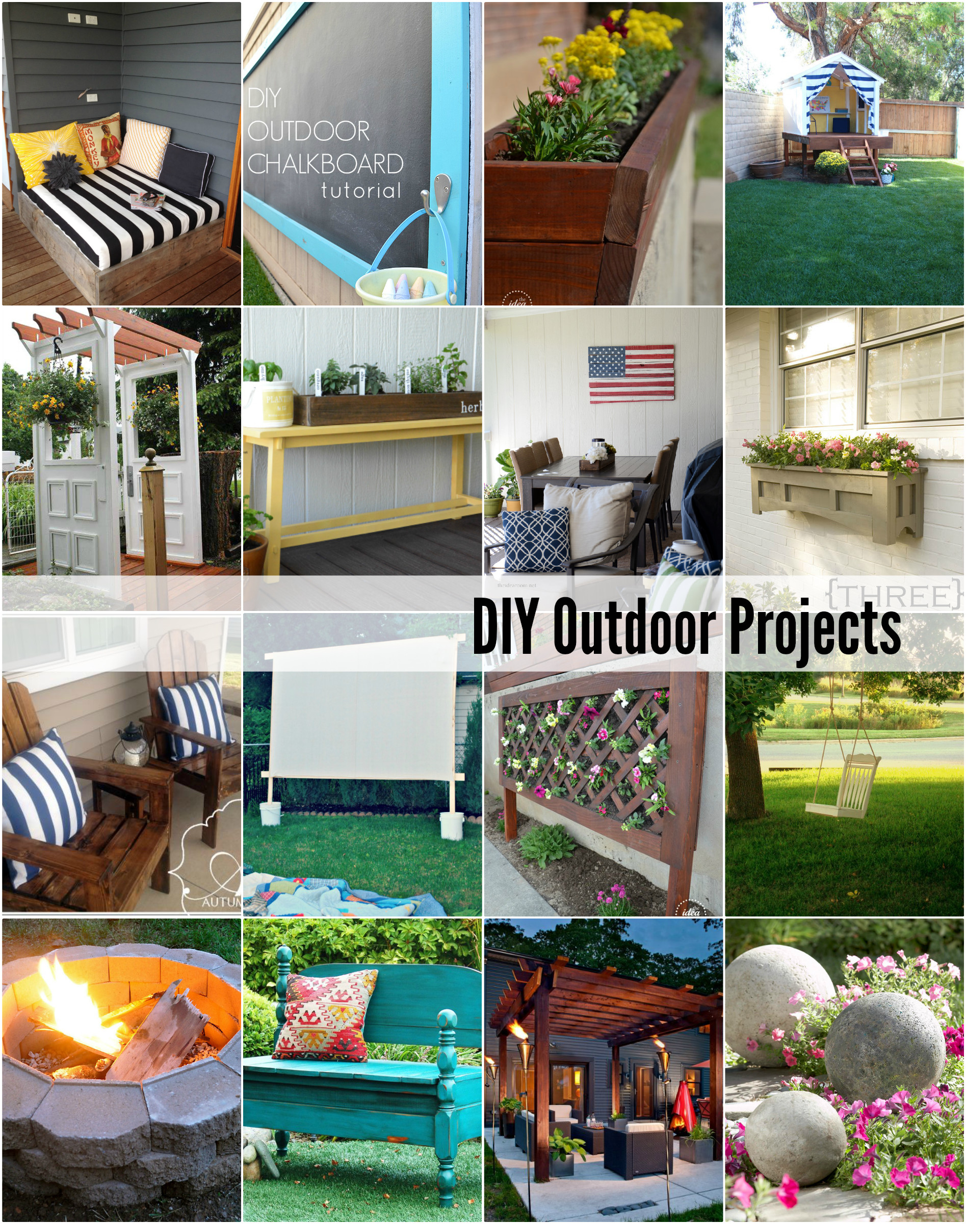DIY Projects Outdoor  20 DIY Outdoor Projects The Idea Room