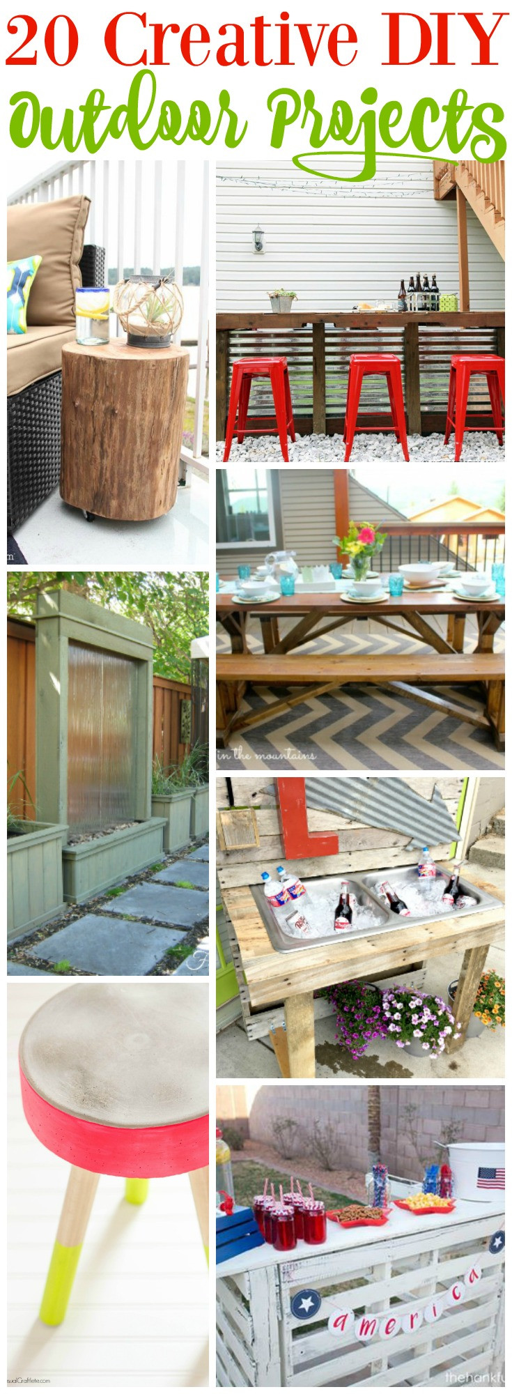 DIY Projects Outdoor  20 Creative Outdoor DIY Projects