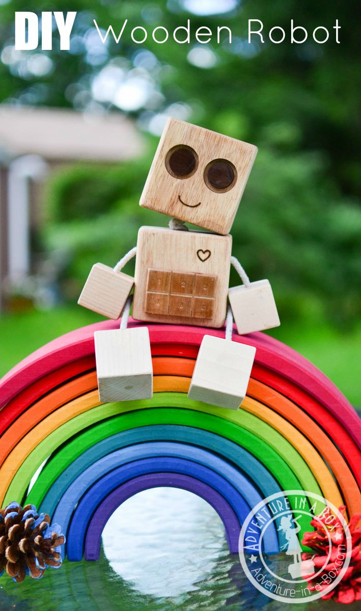 DIY Robots For Kids  DIY Wooden Robot Buddy Easy Project for Kids
