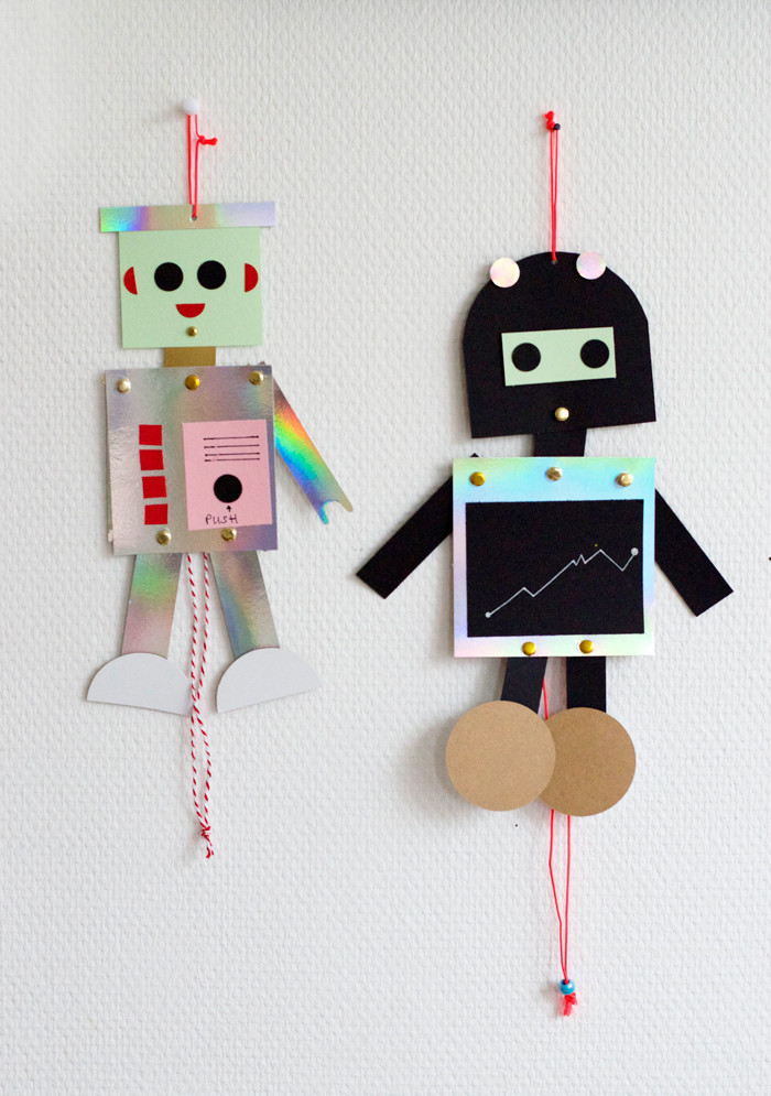 DIY Robots For Kids  bookhoucraftprojects Project 178 DIY Robot puppets