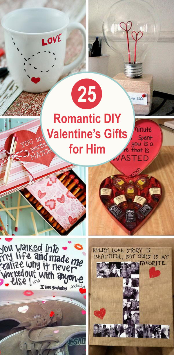DIY Romantic Gifts  25 Romantic DIY Valentine s Gifts for Him 2017
