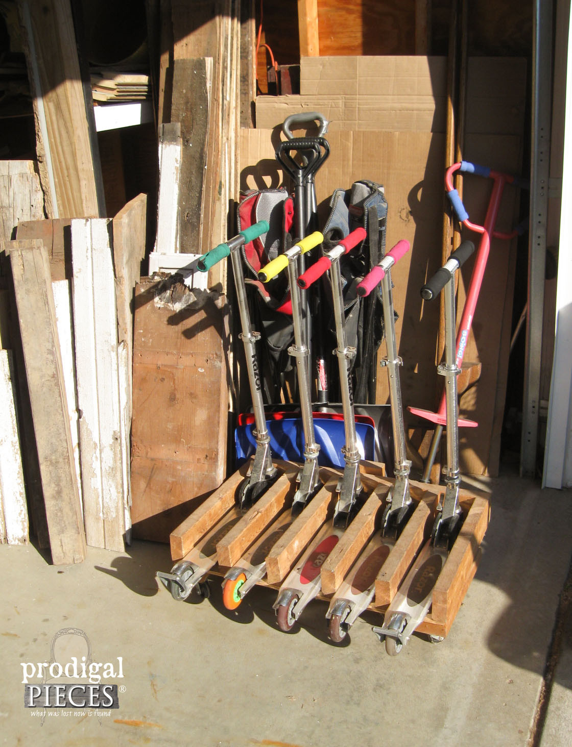 DIY Scooter Rack  DIY Workbench Fit for a Junker Prodigal Pieces