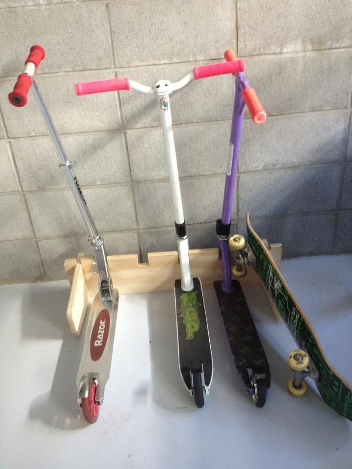 DIY Scooter Rack  Great scooter stand made from ply
