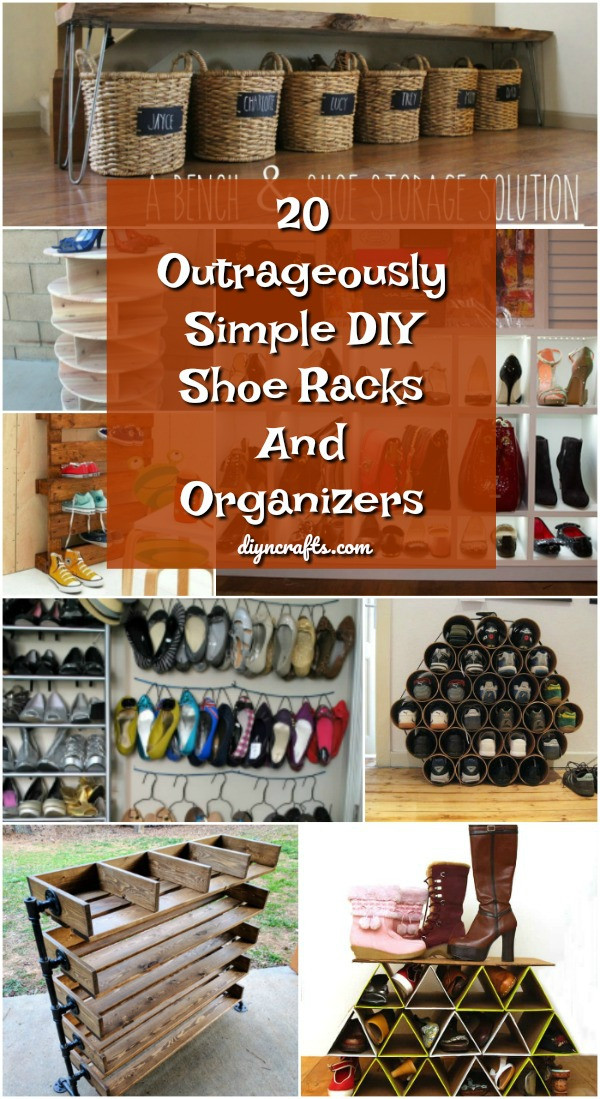 DIY Shoe Organizer Ideas  20 Outrageously Simple DIY Shoe Racks And Organizers You
