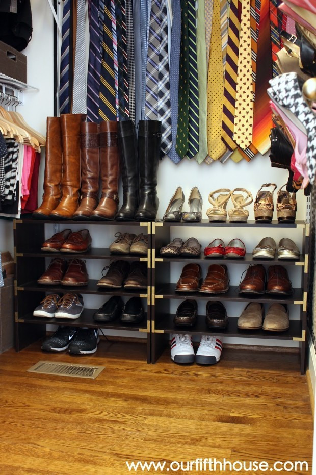 DIY Shoe Organizer Ideas  DIY Shoe Organizer Ideas In closet as hanger shoe