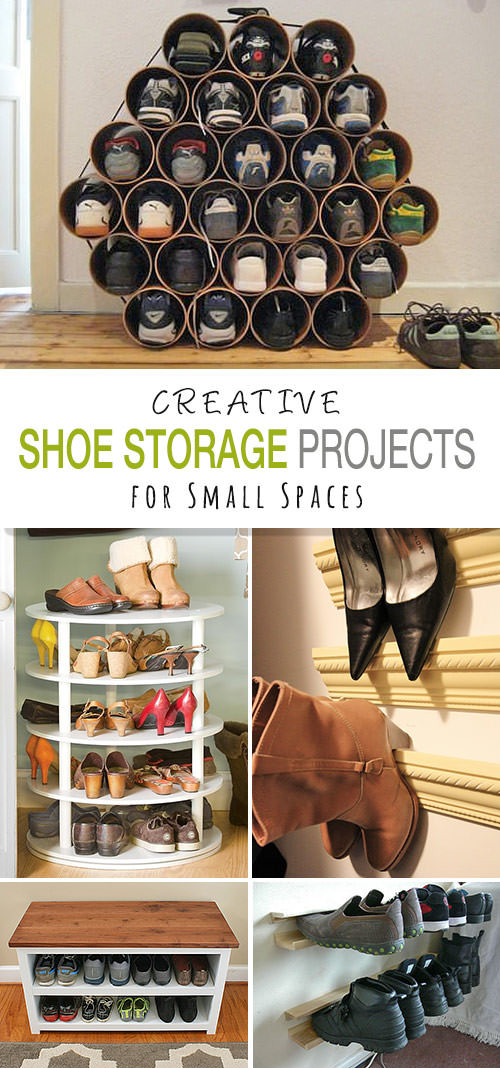 DIY Shoe Organizer Ideas  Shoe Storage DIY Projects for Small Spaces