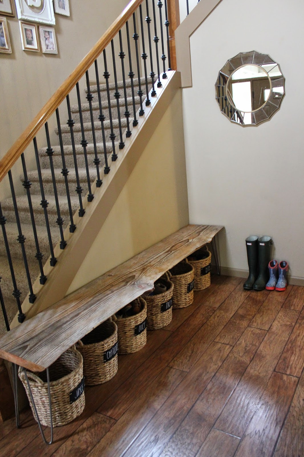 DIY Shoe Organizer Ideas  Trey and Lucy A Bench & Shoe Storage DIY