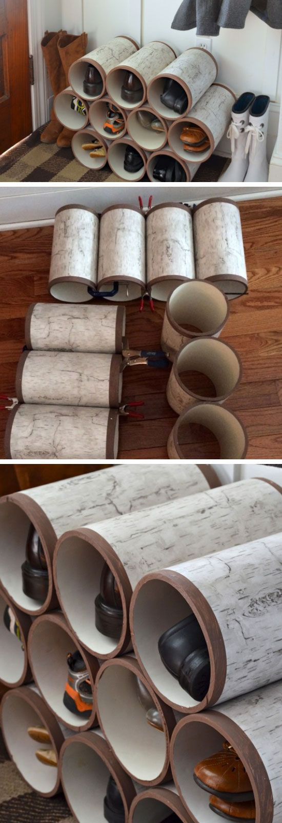 DIY Shoe Rack For Small Closet  22 DIY Shoe Storage Ideas for Small Spaces