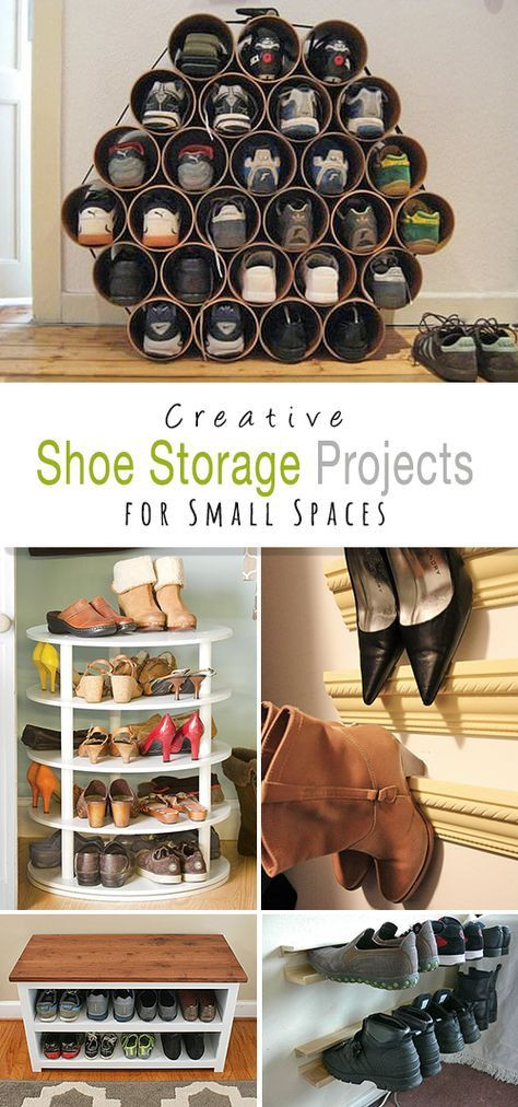 DIY Shoe Rack For Small Closet  DIY Shoe Storage Ideas for Small Spaces