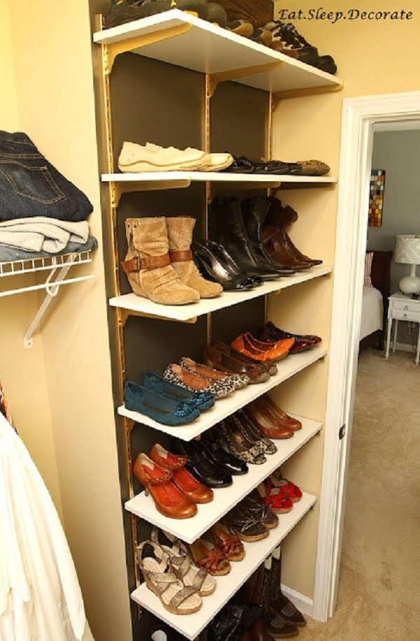 DIY Shoe Rack For Small Closet  62 Easy DIY Shoe Rack Storage Ideas You Can Build on a Bud