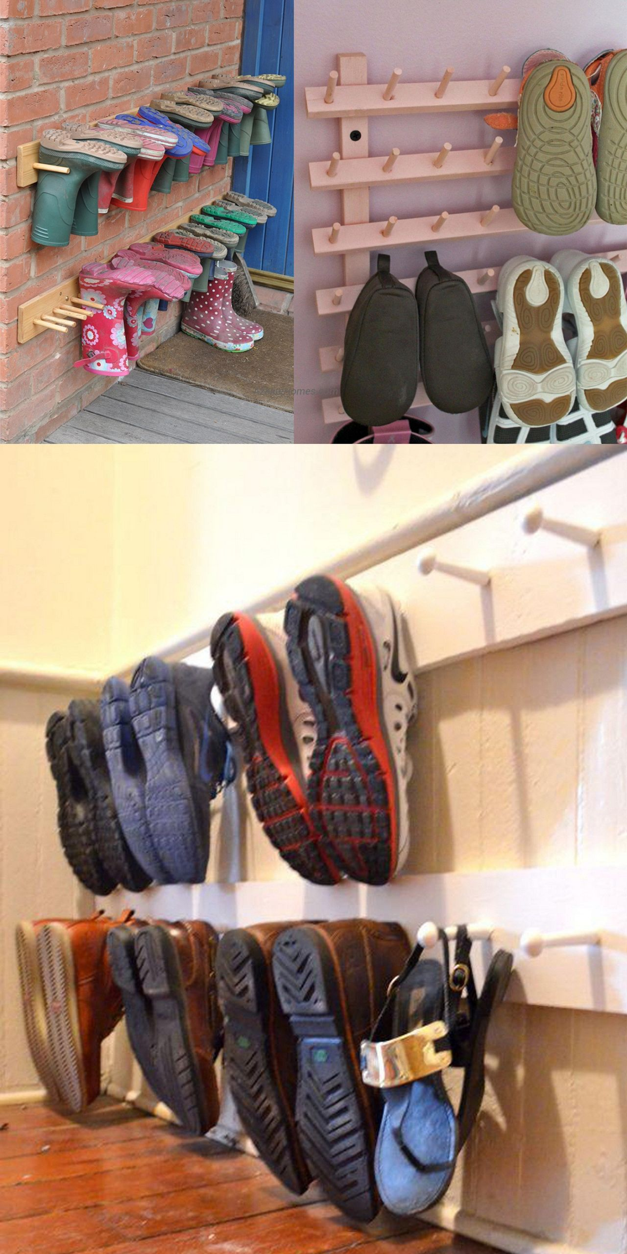 DIY Shoe Rack For Small Closet  How to Organize Shoes in a Small Closet with Installing