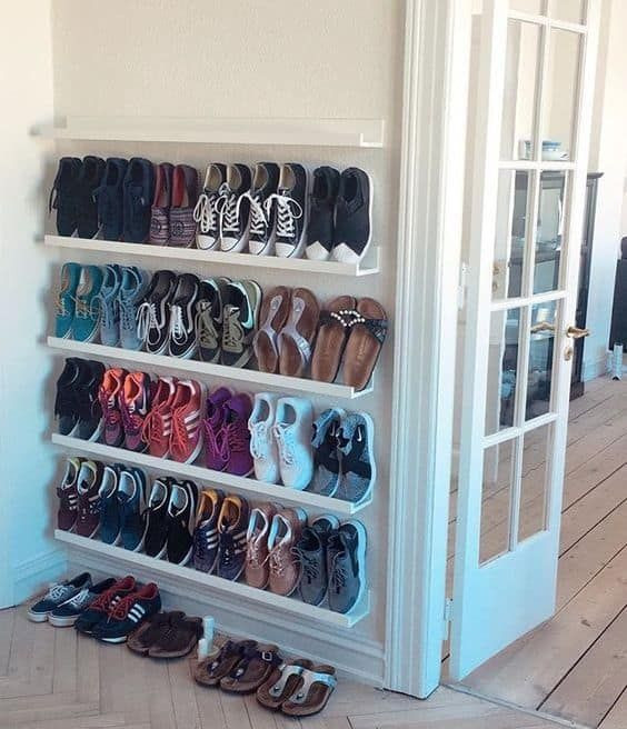 DIY Shoe Rack For Small Closet  27 Creative and Efficient Ways to Store Your Shoes