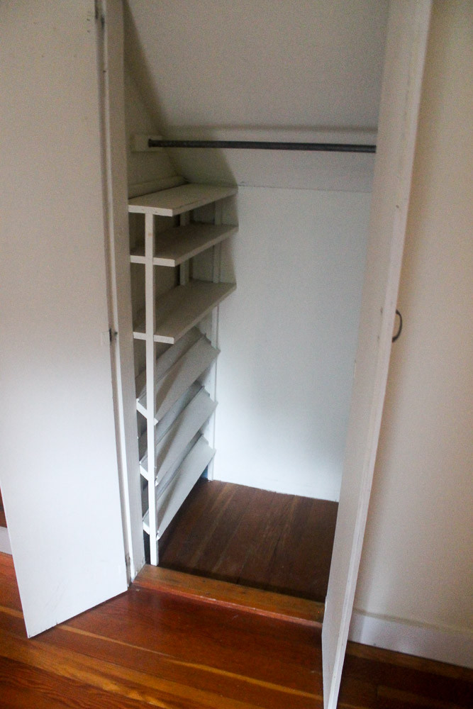 DIY Shoe Rack For Small Closet  DIY shoe and sweater storage idea for small closets