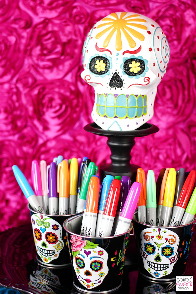 DIY Skull Decor  Decorate Your Own Day of the Dead Sugar Skulls Soiree