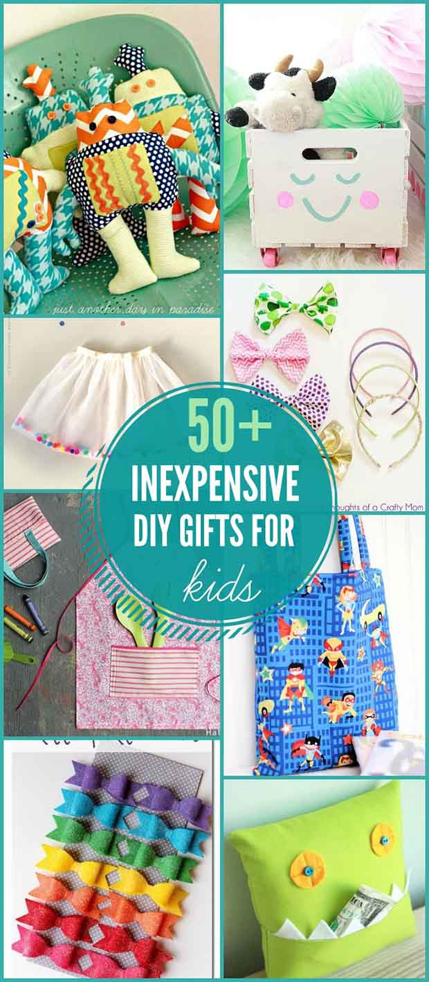 DIY Stuff For Kids  50 Inexpensive DIY Gifts for Kids Lil Moo Creations