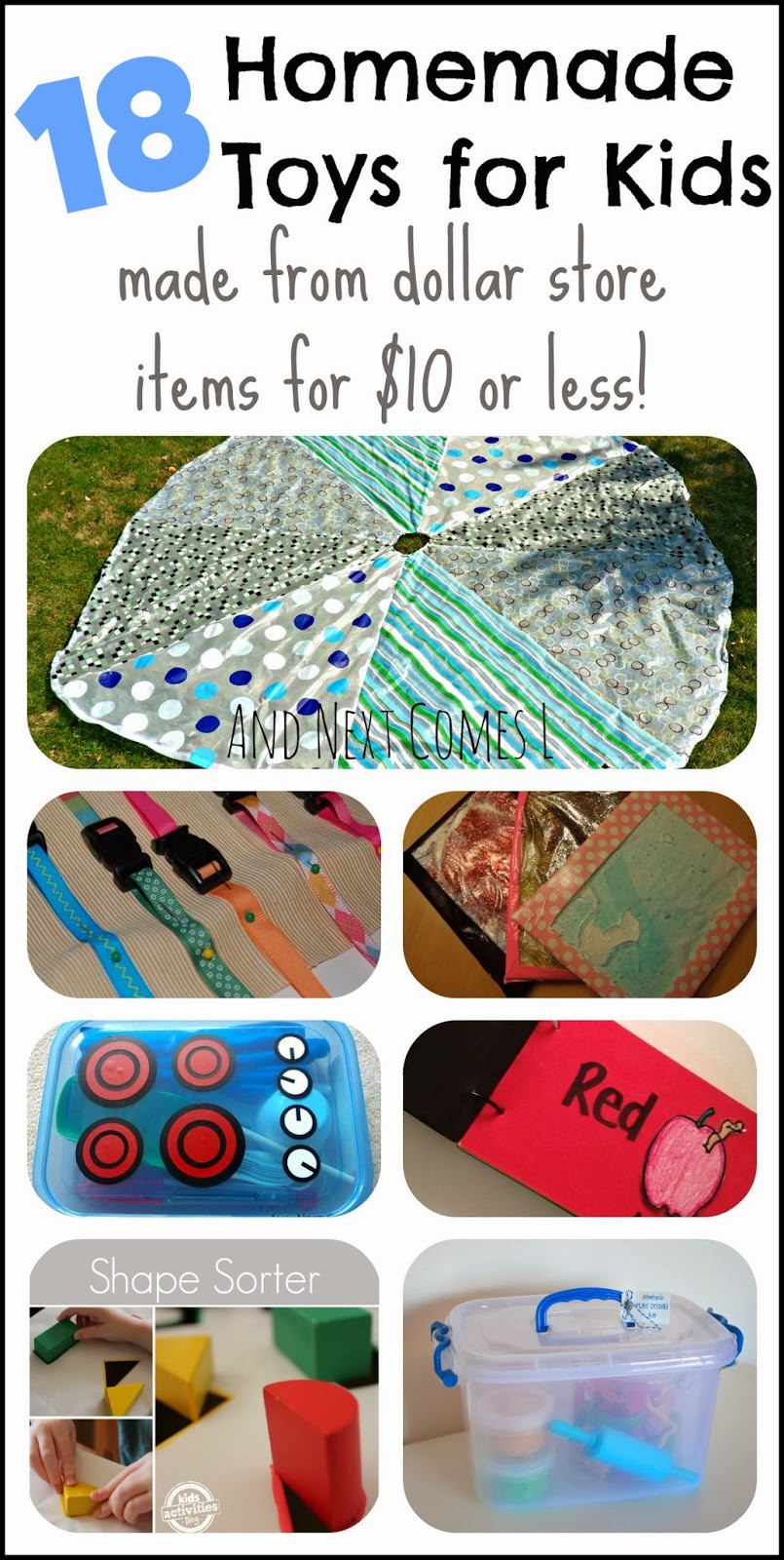 DIY Stuff For Kids  18 Homemade Toys for Kids Made from Dollar Store Items