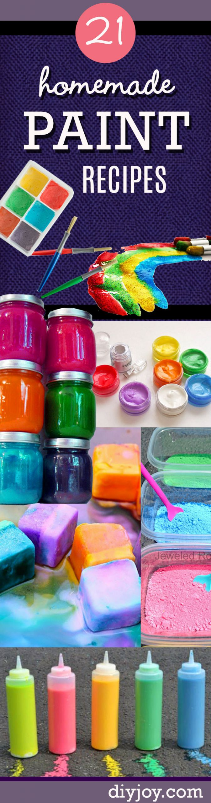 DIY Stuff For Kids  21 Easy DIY Paint Recipes Your Kids Will Go Crazy For