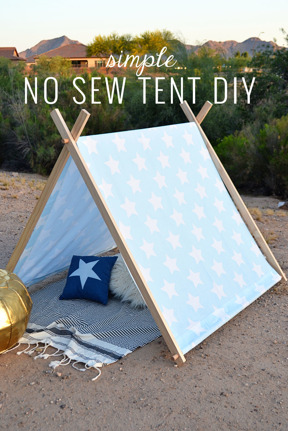DIY Tent For Kids  Simple No Sew Kid s Tent DIY — Momma Society