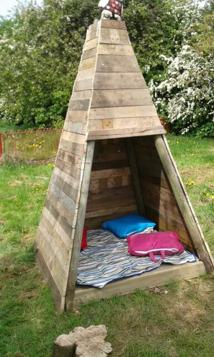 DIY Tent For Kids  Build your kids a wooden teepee tent