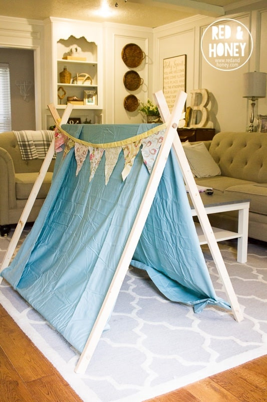 DIY Tent For Kids  Simple DIY Play Tent for Kids Red and Honey