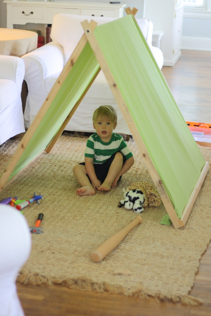 DIY Tent For Kids  A Barefoot Day DIY A Frame Tent For Kids