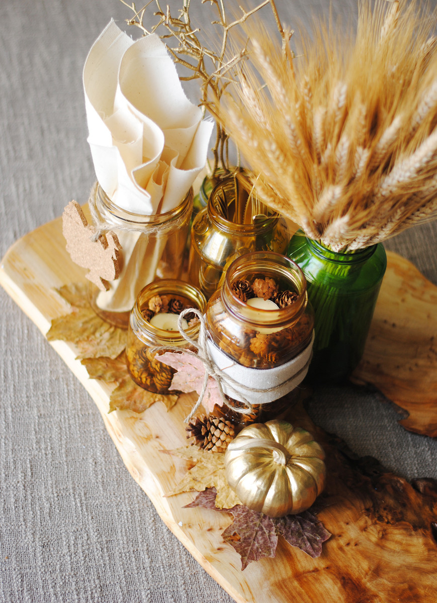 DIY Thanksgiving Decorations  26 Lovely DIY Thanksgiving Centerpieces