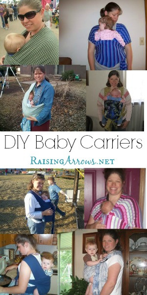 DIY Toddler Carrier  Homemade Baby Carriers Raising Arrows