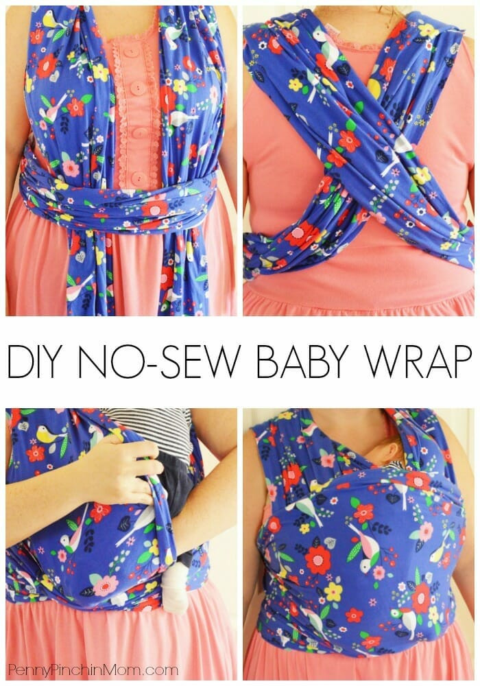 DIY Toddler Carrier  Moby Wrap Instructions How to Use a Baby Wrap