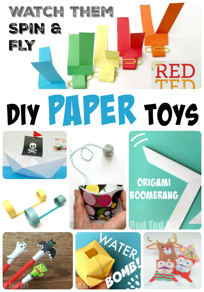DIY Toys For Kids  DIY Paper Toys here over 12 fantastic paper toys the