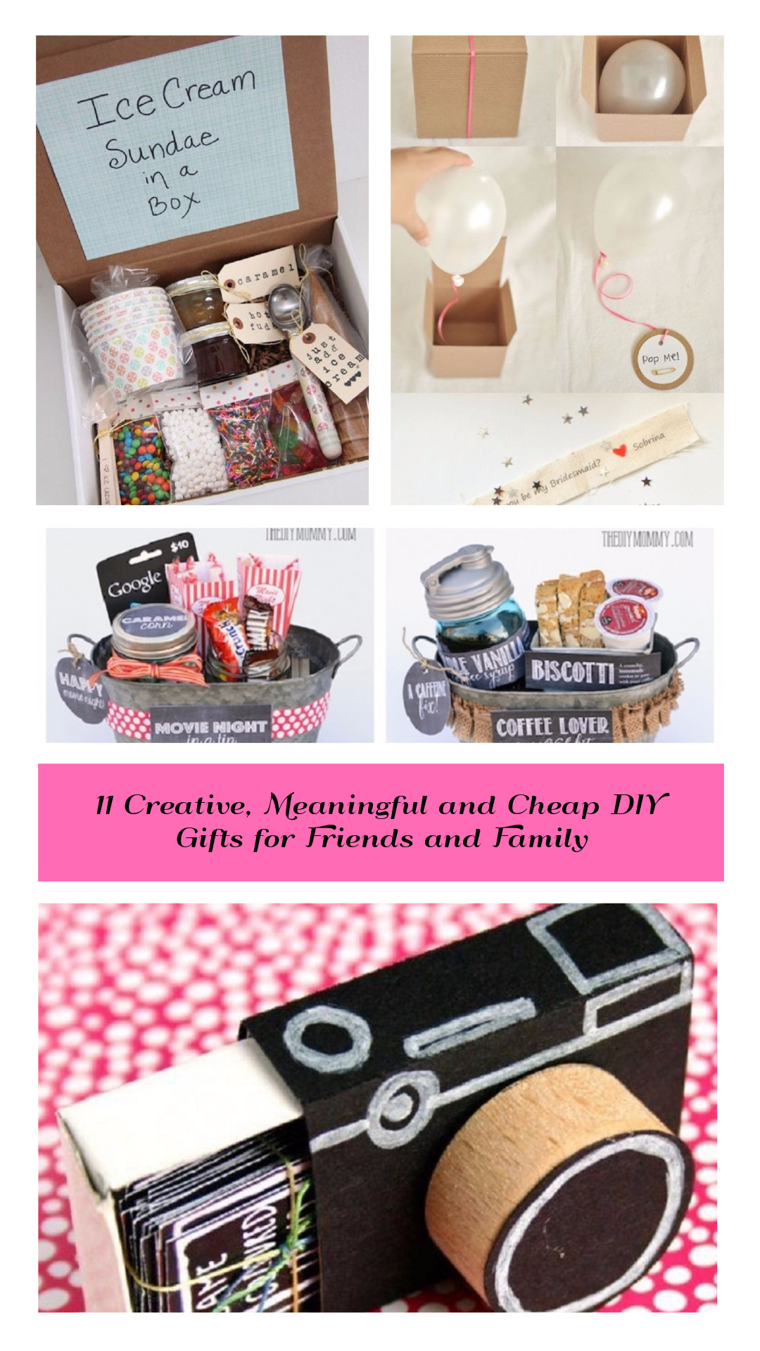 DIY Valentine'S Gifts For Friends  11 Creative Meaningful and Cheap DIY Gifts for Friends