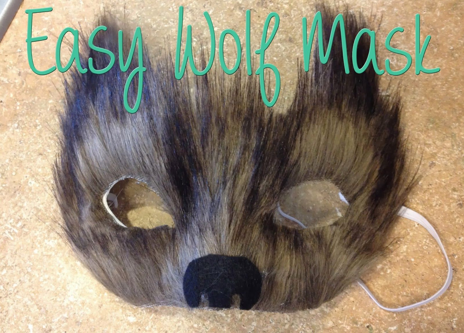 DIY Wolf Mask  A cheap and easy wolf mask just in time for Halloween